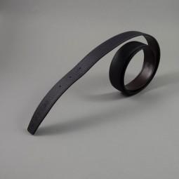 a9ec0409e21 HERMES Paris made in France. Cuir de ceinture reversible en veau togo indigo  et box chocolat