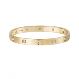 CARTIER Bracelet Love diamants de face