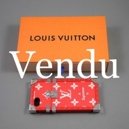 coque louis vuitton supreme rouge et blanc