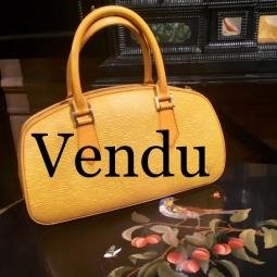 Sac Jasmin cuir épi jaune Louis Vuitton