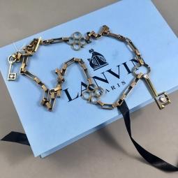 Sautoir Lanvin avec boite bleu sigle noir