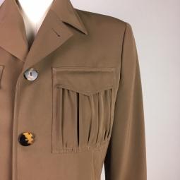 focus plissé des poches veste Jean Paul Gaultier