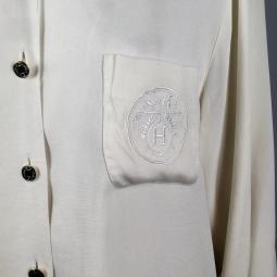 Logo Hermès au H et à la caleche brodés