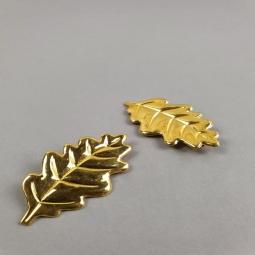 Deux broches en résine dorée